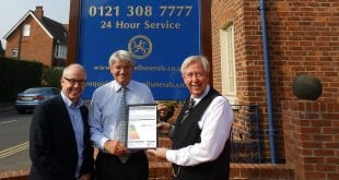 "Andrew Mitchell, MP, and Ian Hazel with local Councillor Meirion Jenkins (for Sutton, Four Oaks Ward) and ""A"" rated Energy Performance Certificate (EPC)"