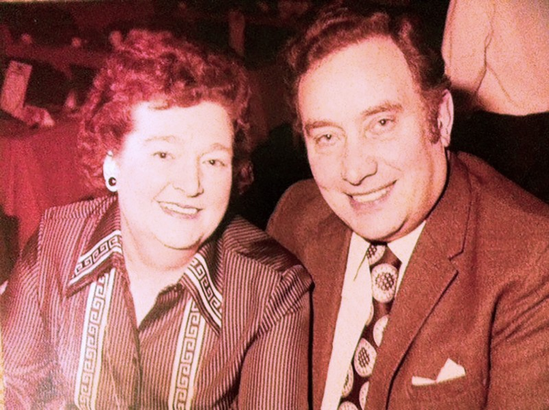 Idris Evans and his former wife Marjorie